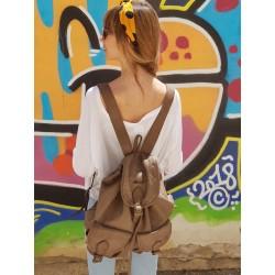 Mochila City de cuero color...